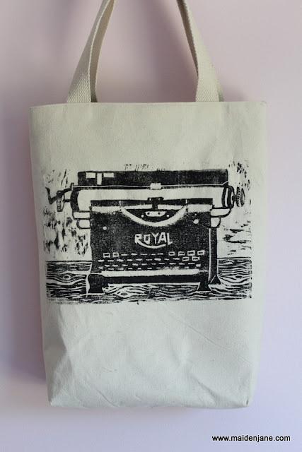 Vintage Typewriter Print Tote Bag