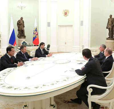 Vladimir Putin. business representatives