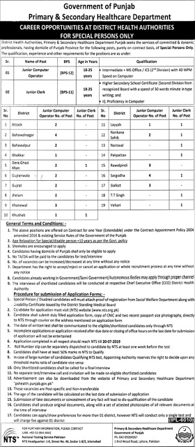Computer Operator & Clerks Jobs In Healthcare Department 2019