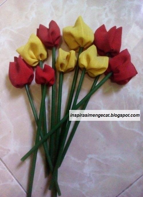 Tutorial Cara Membuat Bunga Tulip Cantik Dan Murah Dari Kain Bekas Inspirasi Warna