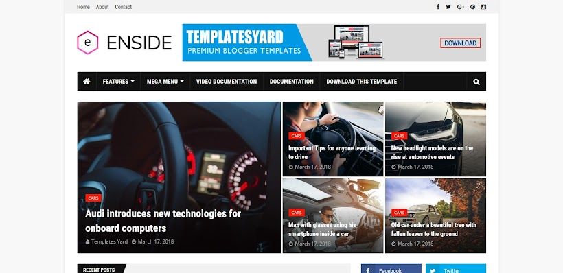 Enside Free Blogger Template