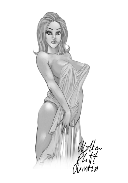 Calypso From The Odyssey Drawing