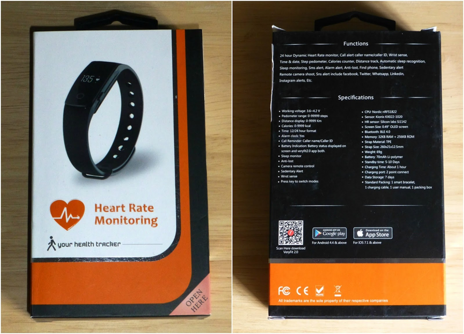 Veryfit 2 0 Smart Watch heart rate monitor Review | Gadget