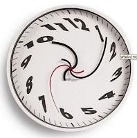 Relógio distorcido