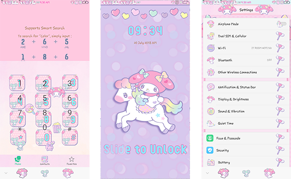 Oppo Theme: Oppo Melody Unicorn Theme