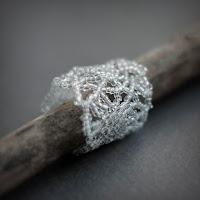 """купить Необычное прозрачное ажурное кольцо """"Ледяные узоры"""""""