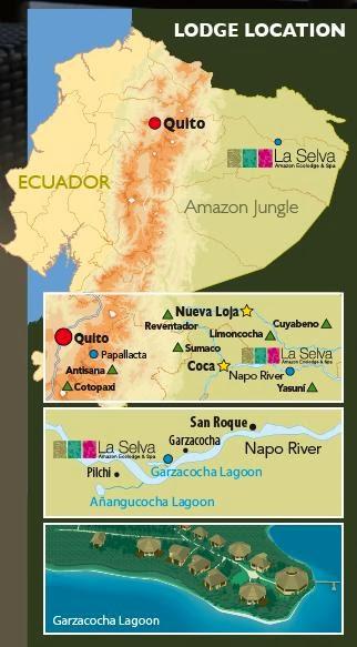Hosterías en el oriente ecuatoriano