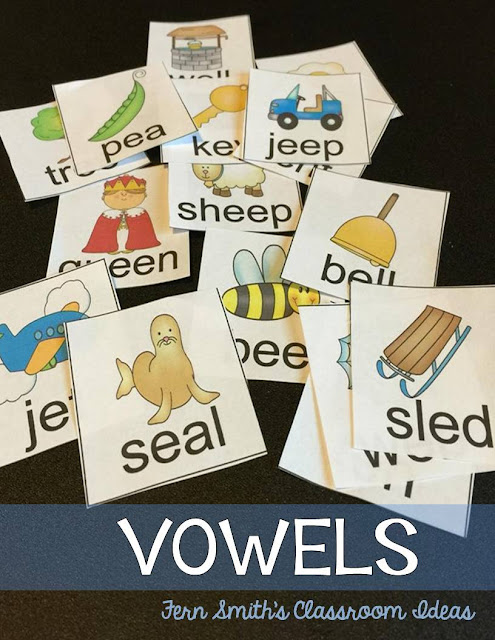 Students are ready to study long and short vowels and the connection between them when they can read word families (like hat, sat, cat, fat, etc.) and when they are starting to include vowels in their spellings. Center Games and Worksheets at TpT from #FernSmithsClassroomIdeas