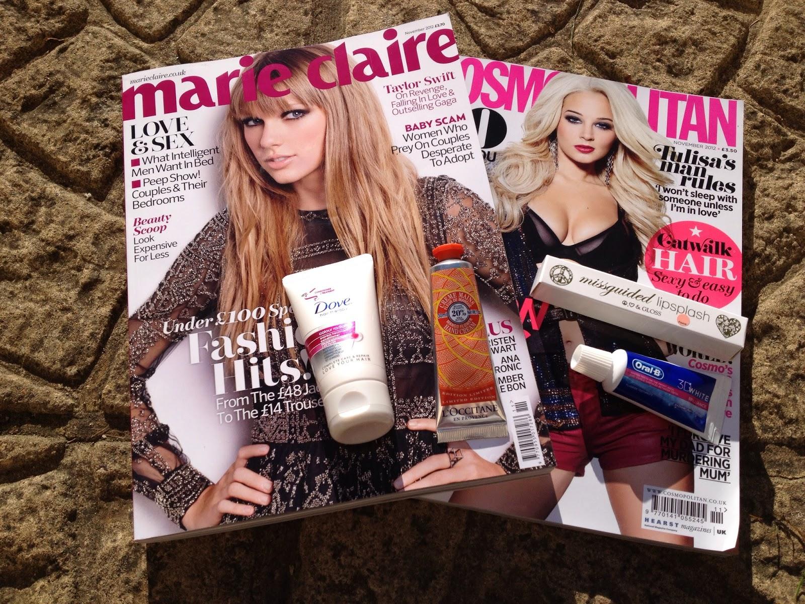 Help! I'm Addicted to Magazine Freebies    | Ramblings of a Beauty Bird