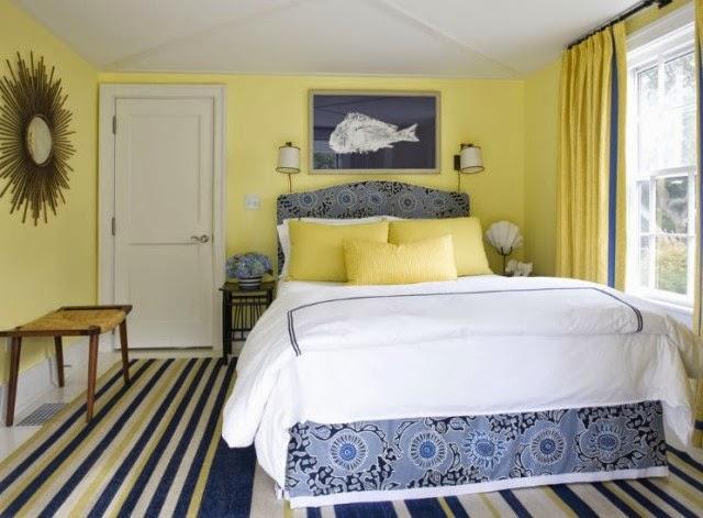habitación paredes amarillas