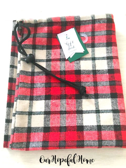 Target plaid flannel Christmas gift sack