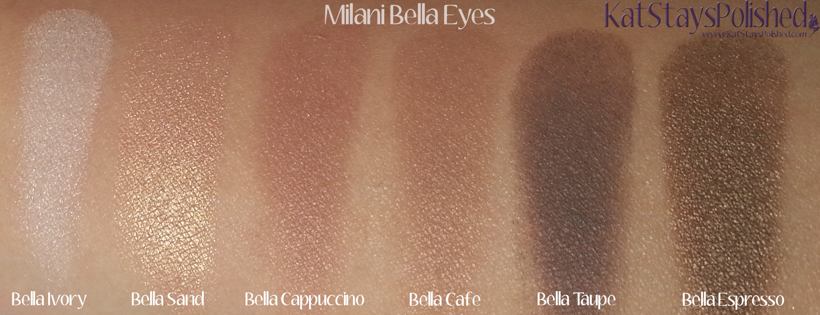 Milani Bella Eyes Gel Powder Eye Shadow - Swatches 01-06 | Kat Stays Polished
