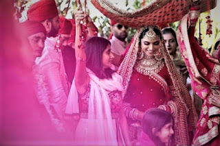 Deepika Padukone was brought to the wedding in this way