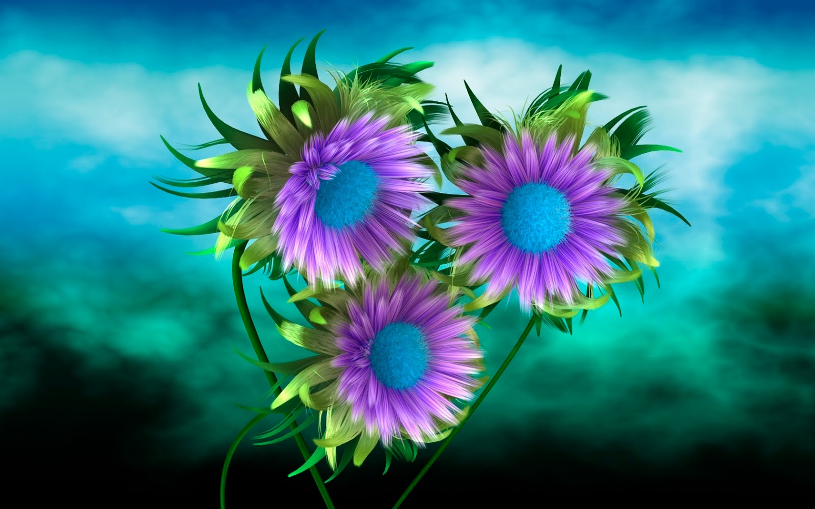 Lindas Flores Azules Como El Cielo Wallpaper Hd Ultra