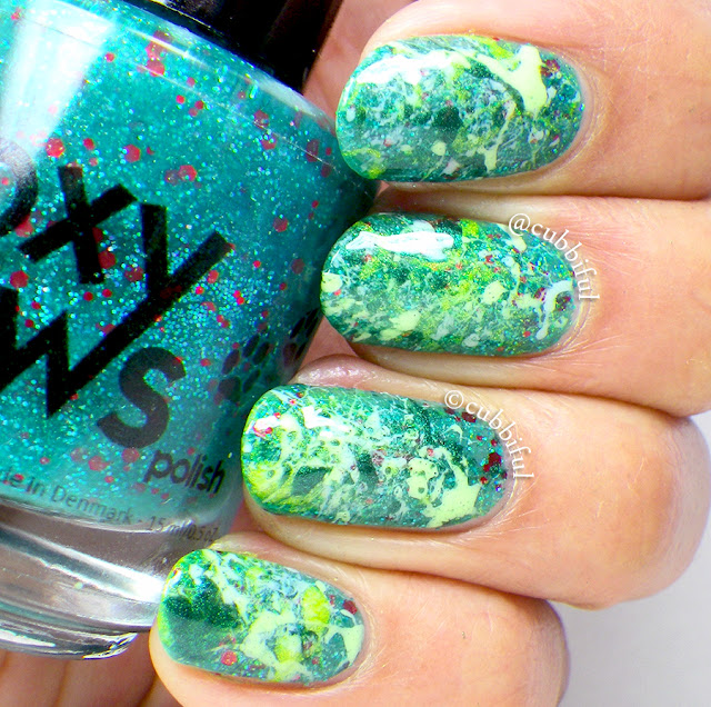 Splatter Spring Nails