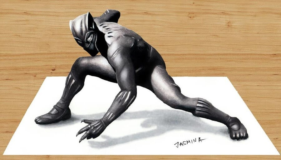 02-Black-Panther-Jasmina-Susak-3D-and-2D-Comic-Book-Superheroes-and-Video-www-designstack-co