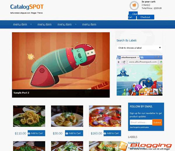 Catalog spot e commerce 2016 business blogger template download wajeb Image collections