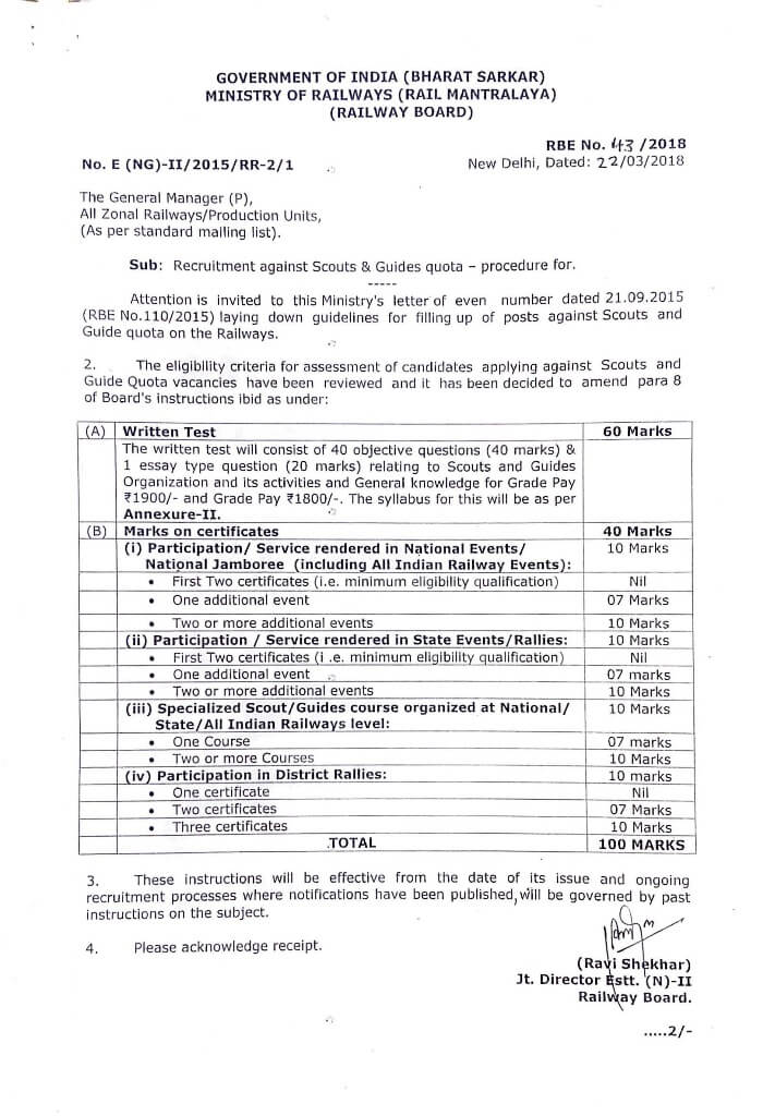 railway-revised-eligibility-criteria-candidates-applying-against-scouts-and-guide-quota-vacancies-rbe-43-2018
