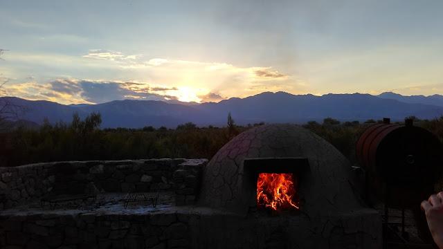 Churrasco na pré-cordilheira dos Andes, em Mendoza.