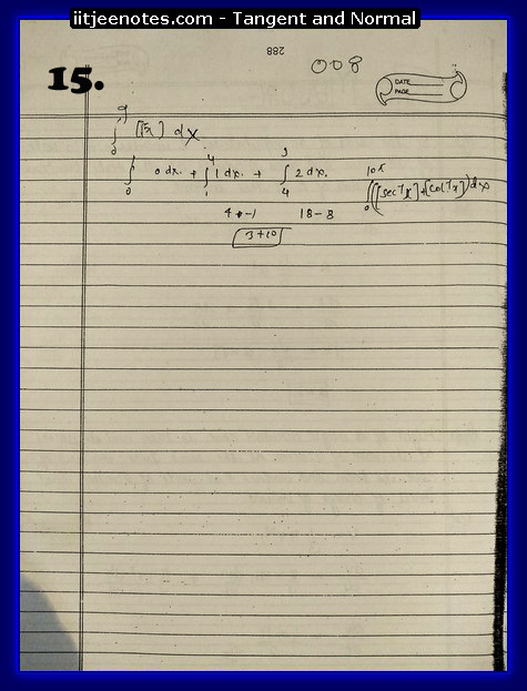 Tangent and Normal Notes download
