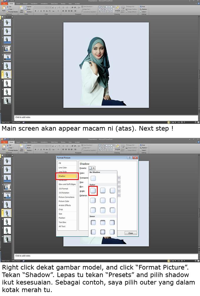 Bagaimana nak hasilkan gambar cantik guna Powerpoint