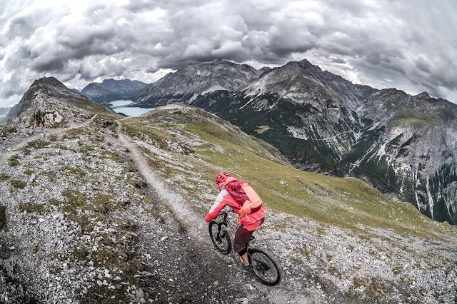 Trail Abfahrt Mountainbike Valdidentro Monte delle Scale Croce