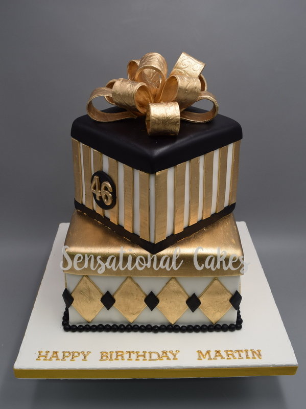 The Sensational Cakes The Great Gatsby Gold And Black Theme Strip