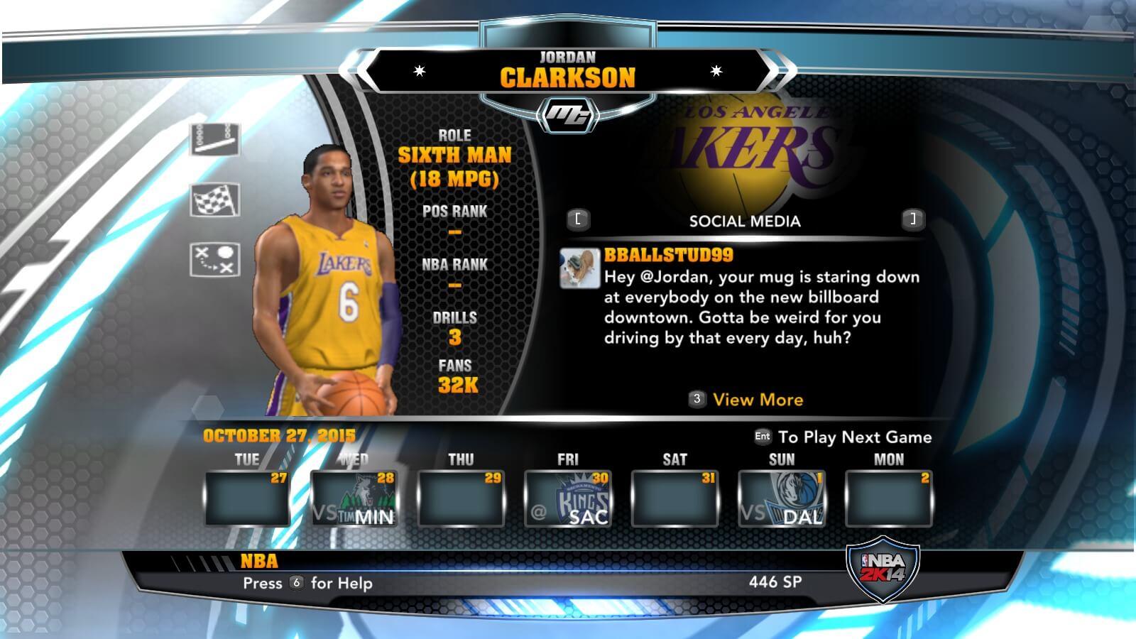 NBA 2k14 MyCareer Mod : Jordan Clarkson - HoopsVilla