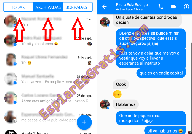 Espía las conversaciones de Messenger activas en tu red local
