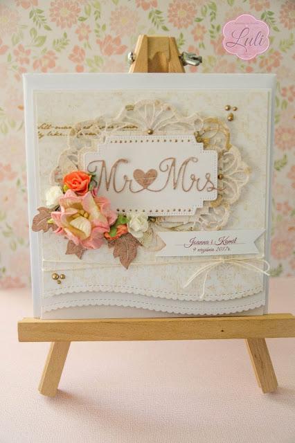 Mr&Mrs- ślubna kartka