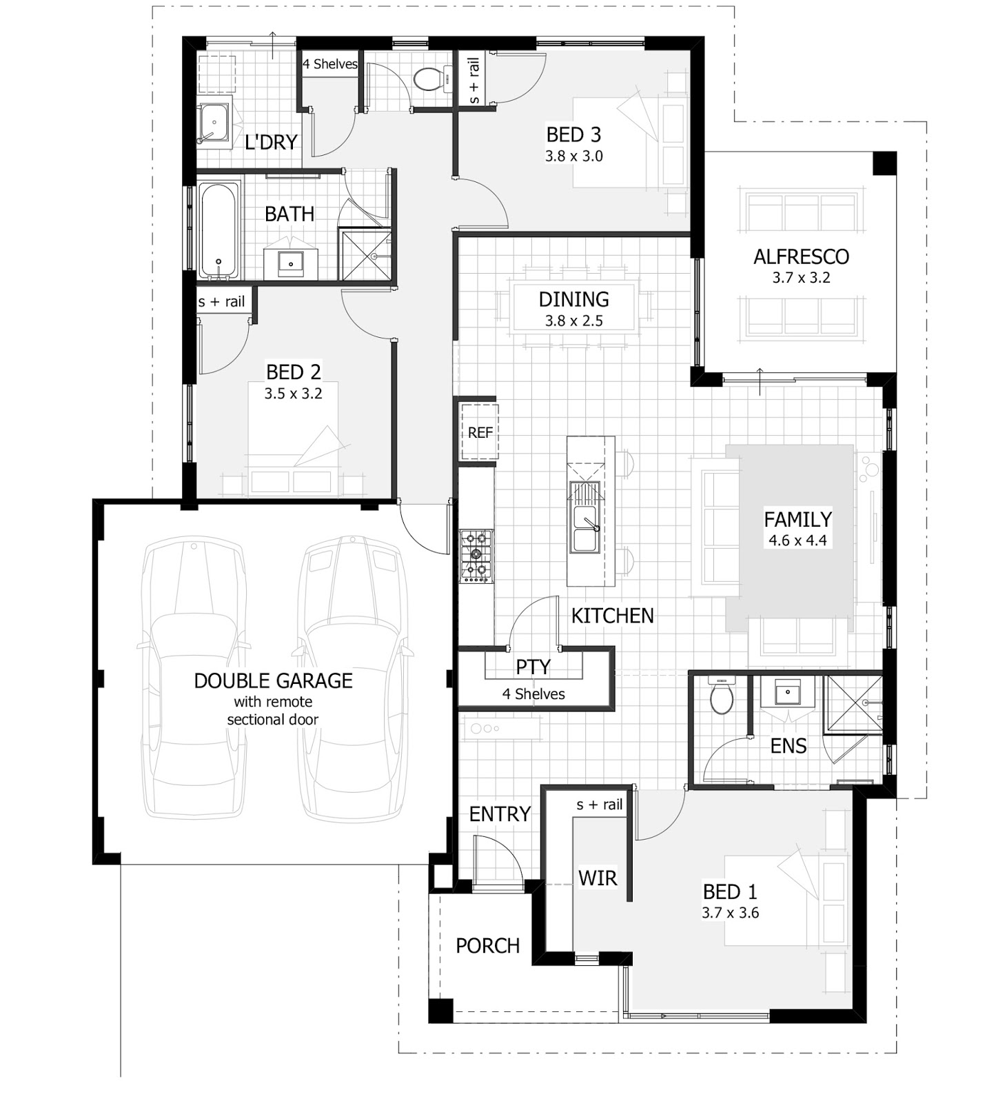 Luxury holiday small villas floor plans with 3 to 4 for House plans 3 bedroom and double garage