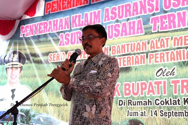 Pj. Sekda Trenggalek, Himbau Petani Gunakan Asuransi Untuk Minimkan Resiko Kegagalan
