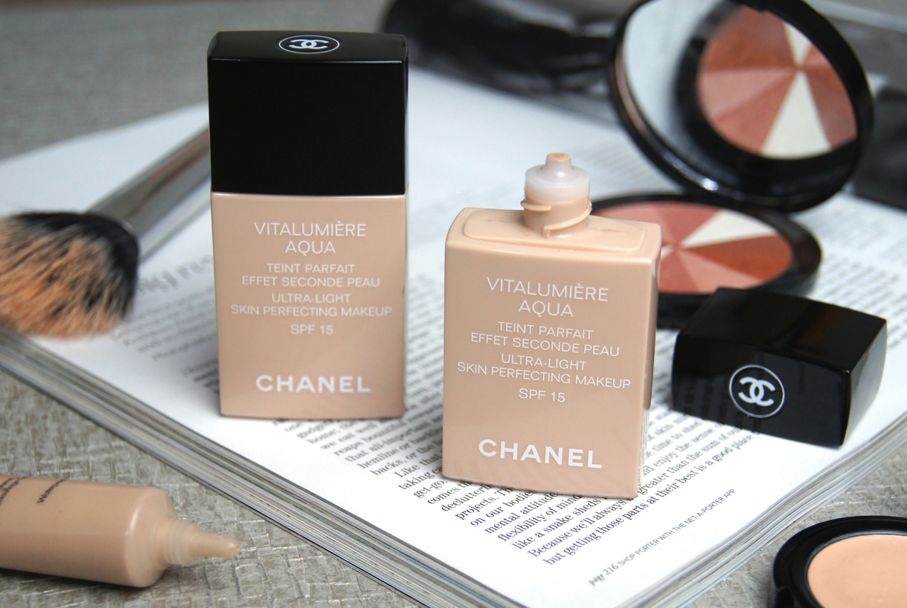 chanel vitalumiere aqua foundation review swatches