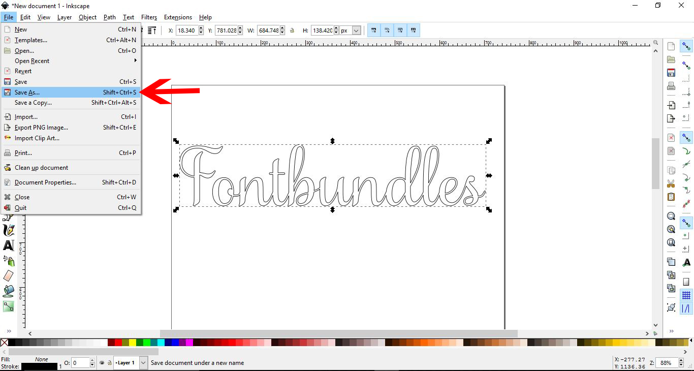 How To Weld Text In Inkscape Design Bundles