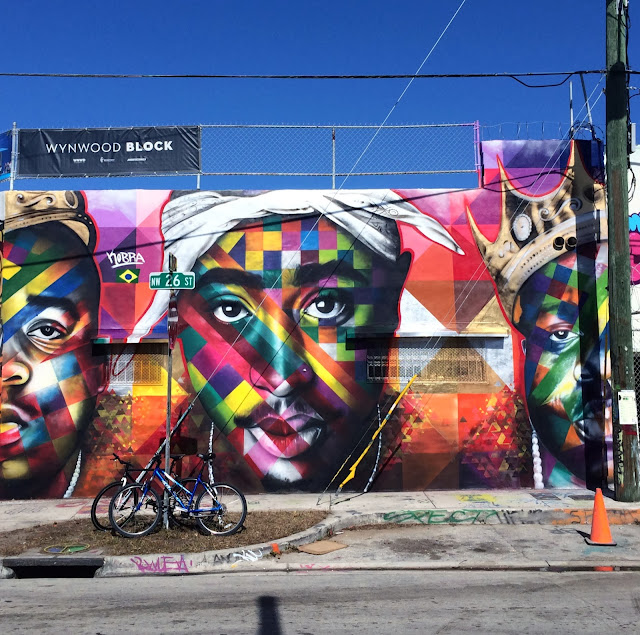 2Pac and Notorious BIG tribute by Eduardo Kobra on the streets of Miami for Art Basel 2013. 1