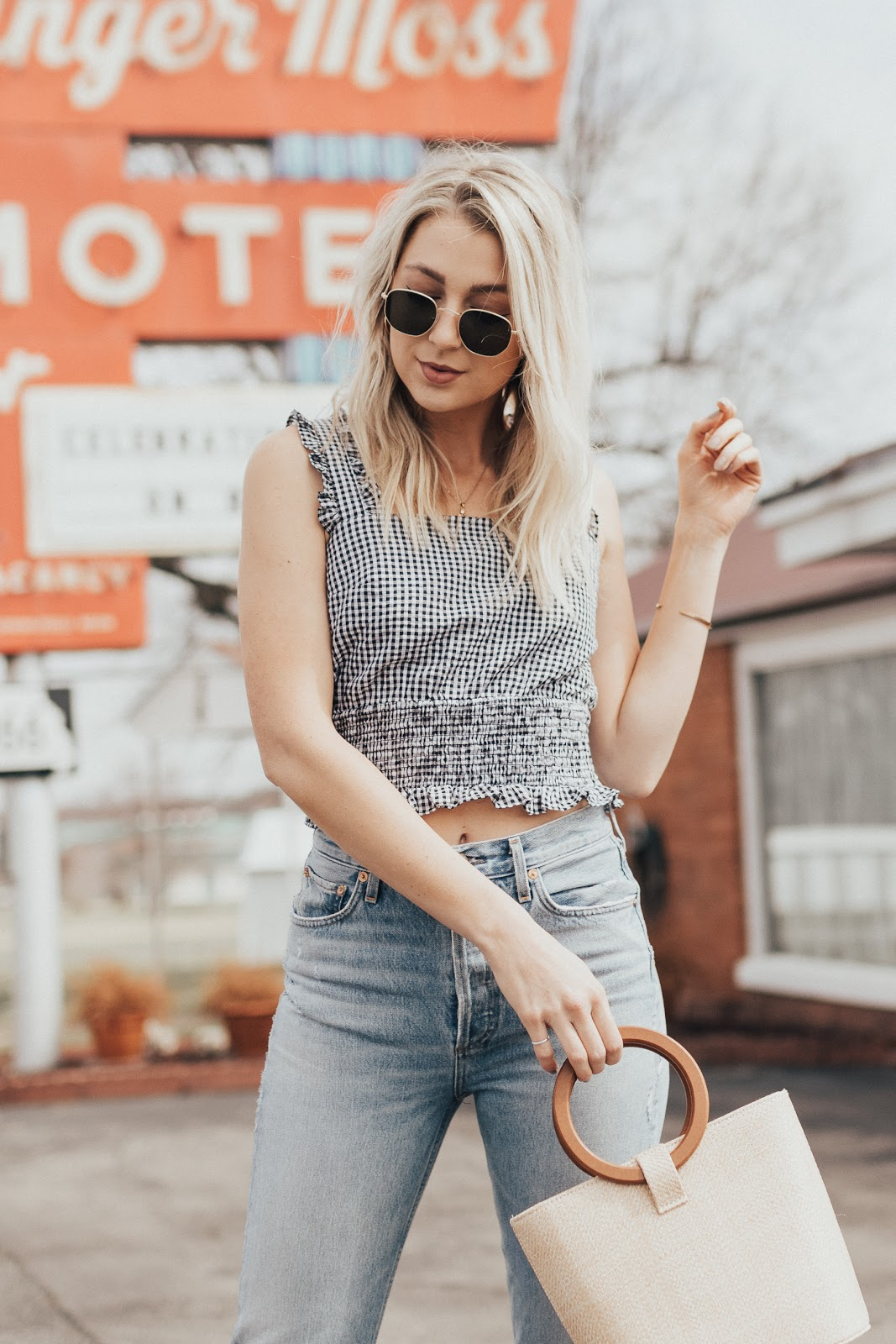 cute gingham crop top | Love, Lenore