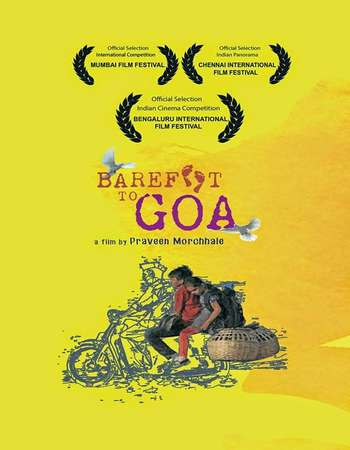 Poster Of Barefoot to Goa 2015 Hindi 90MB DVDRip HEVC Mobile ESubs Watch Online Free Download Worldfree4u