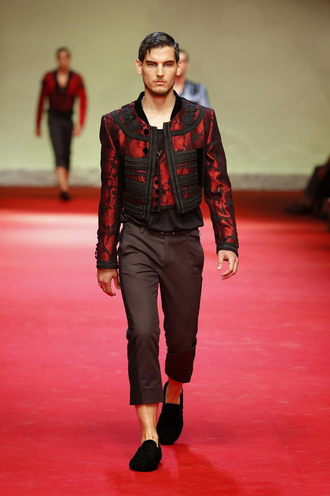 506a423f425 Nelson Argumedo  Milan Fashion Week SS 2015  Dolce   Gabbana