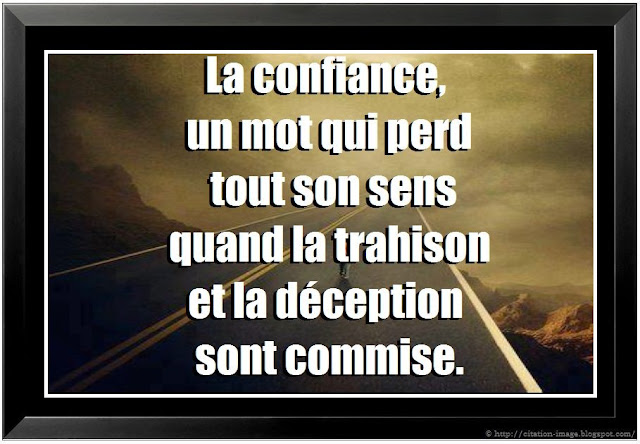 Citation sur trahison en image