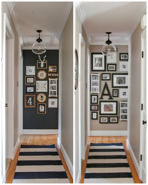 Updated hall gallery wall little house of four - Photo decoration on wall ...