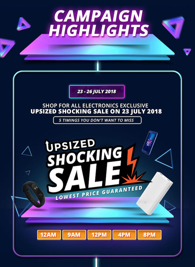 24-hour electronics-only Shocking Sale!