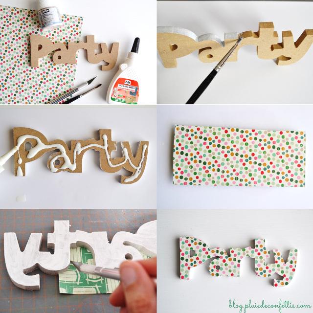 Manualidades como hacer letras - Ideas para decorar letras de madera ...