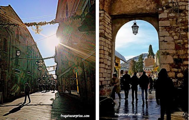 Taormina, Sicília: Porta Messina e Porta Catania