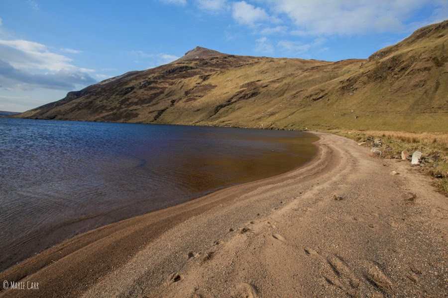 The 'beach' at Lough Altan, Co. Donegal, Ireland