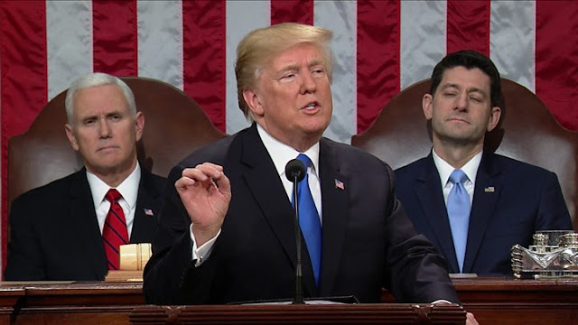 Trump State of the Union address promised unity but emphasized discord