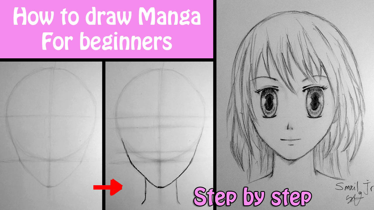 Drawings, Movies... And more: How to draw manga girl for ...