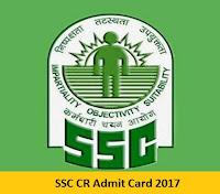 SSC CR Admit Card