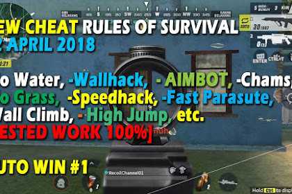 Cheat Rules of Survival Glutamin 2.0 Update 12 April 2018 No Grass  Aimbot Lock No Water Fast Parasute Wall Climb Wallhack