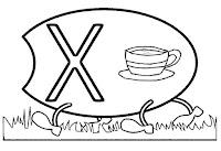 Alfabeto centopeia letra X