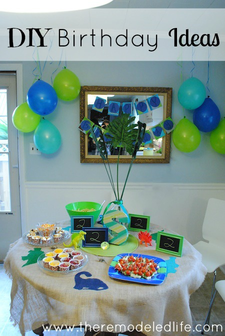 The Remodeled Life Dinosaur Birthday Party - Silas is 2! - blue and green birthday party